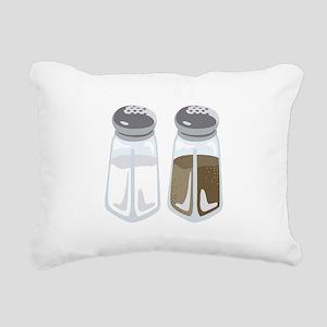Salt Pepper Shakers Rectangular Canvas Pillow
