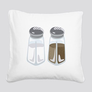 Salt Pepper Shakers Square Canvas Pillow