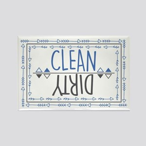 Clean Dirty Rectangle Magnet