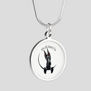 Great Dane IAAM Silver Round Necklace