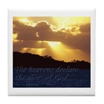 The heavens declare the glory of God Tile Coaster