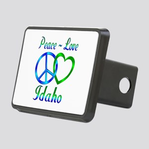 Peace Love Idaho Rectangular Hitch Cover
