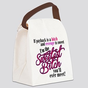 Sweetest Bitch Canvas Lunch Bag