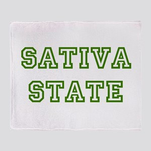 SATIVA STATE Throw Blanket