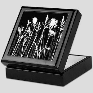 Elegant Grass Silhouette Keepsake Box