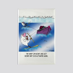 Sheep on the Ark Water Ski Rectangle Magnet