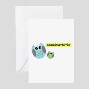 Grandma-to-be Owl Greeting Cards