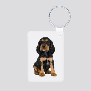 C Puppy Aluminum Aluminum Photo Keychain