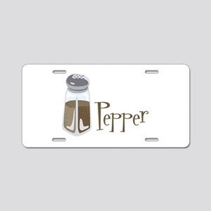 Pepper Aluminum License Plate