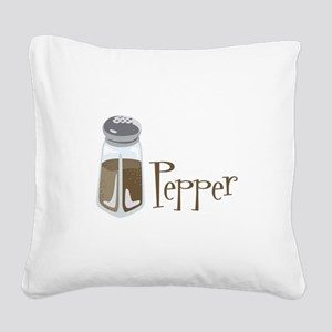 Pepper Square Canvas Pillow