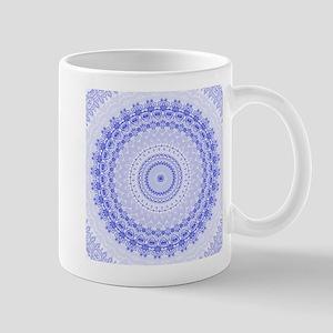 China Blue mandala kaleidoscope Mugs
