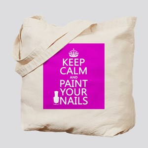 Keep Calm and Paint Your Nails Tote Bag