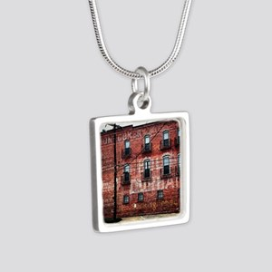 Coca-Cola Ghost Sign Silver Square Necklace