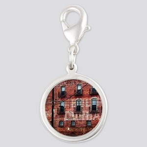 Coca-Cola Ghost Sign Silver Round Charm