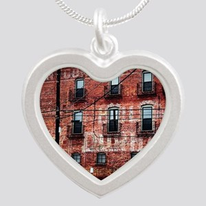 Coca-Cola Ghost Sign Silver Heart Necklace