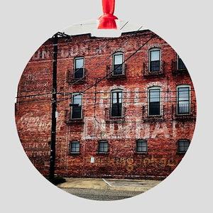 Coca-Cola Ghost Sign Round Ornament