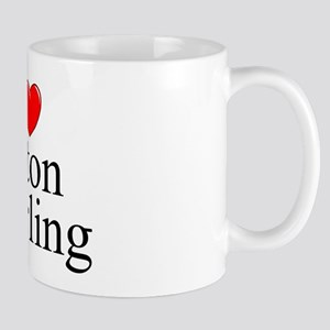 """I Love (Heart) Baton Twirling"" Mug"