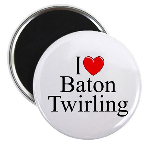 """I Love (Heart) Baton Twirling"" Magnet"