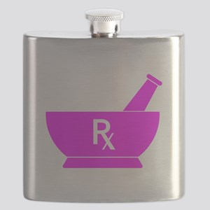 Pink Mortar and Pestle Rx Flask
