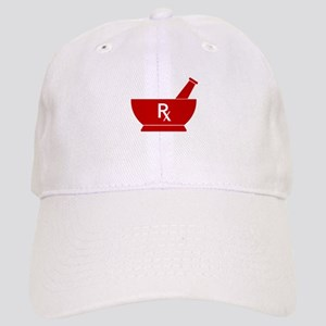 Red Mortar and Pestle Rx Cap