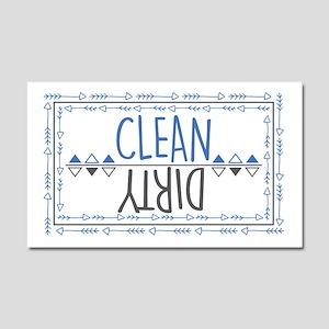 Clean Dirty Car Magnet 20 X 12