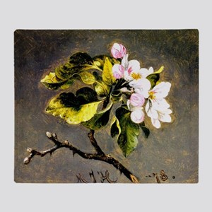 Apple Blossoms, painting by Martin J Throw Blanket