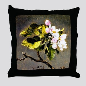 Apple Blossoms, painting by Martin Jo Throw Pillow