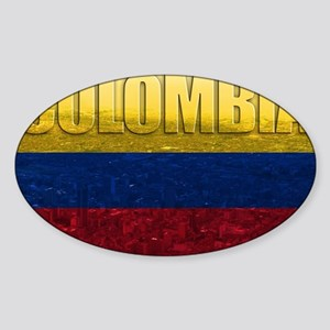 Colombia Flag Sticker (Oval)