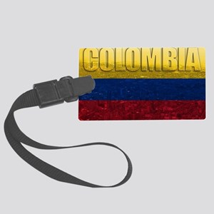 Colombia Flag Large Luggage Tag