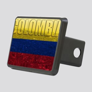 Colombia Flag Rectangular Hitch Cover