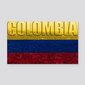 Colombia Flag Rectangle Car Magnet
