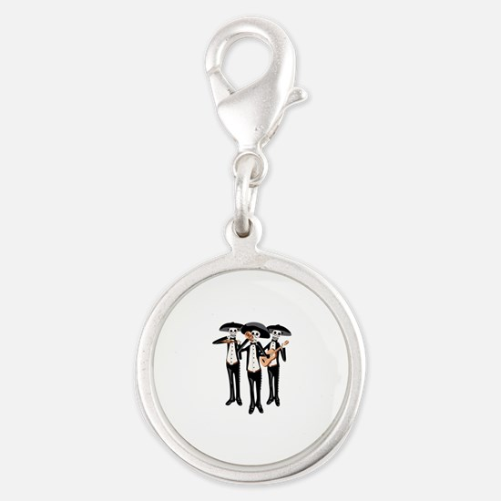 Day Of The Dead Mariachi Skeletons Charms