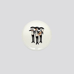 Day Of The Dead Mariachi Skeletons Mini Button