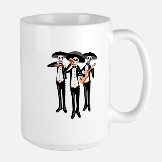 Day Of The Dead Mariachi Skeletons Mugs
