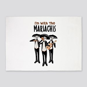 Im With The Mariachis 5'x7'Area Rug