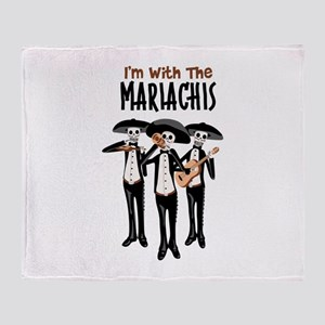 Im With The Mariachis Throw Blanket
