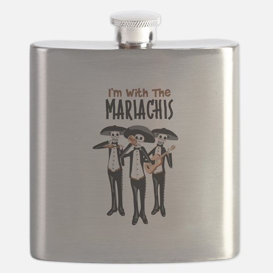 Im With The Mariachis Flask