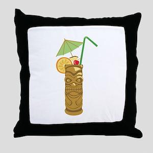 Tiki Mug Drink Throw Pillow