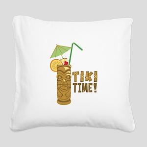 Tiki Time! Square Canvas Pillow