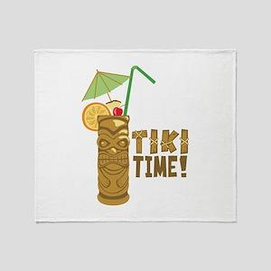 Tiki Time! Throw Blanket