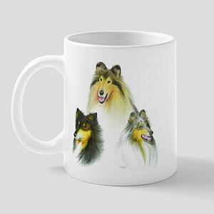 Rough Collie Heads Mug