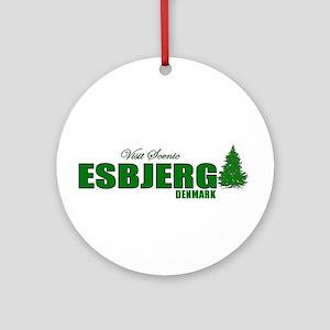 Visit Scenic Esbjerg, Denmark Ornament (Round)