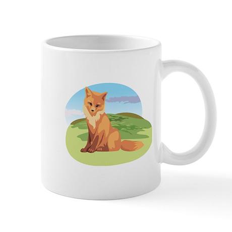 Scenic Fox Design Mug