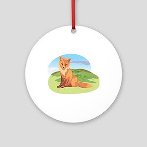 Scenic Fox Design Ornament (Round)