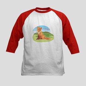 Scenic Fox Design Kids Baseball Jersey