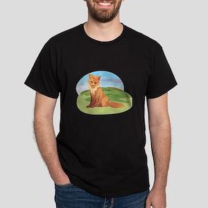 Scenic Fox Design Dark T-Shirt