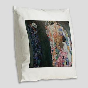 Death and Life Burlap Throw Pillow