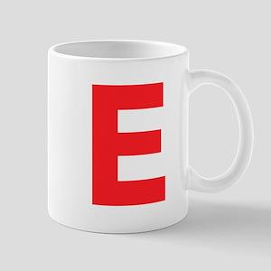 Letter E Red Mugs