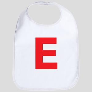 Letter E Red Bib