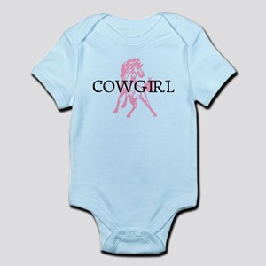 pink horse cowgirl Infant Bodysuit